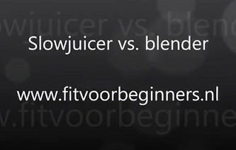 versapers slowjuicer vs. blender